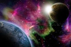 Alien space scene Stock Image