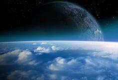 Alien space scene Royalty Free Stock Image