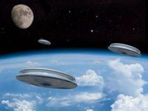 Alien space scene Stock Photos