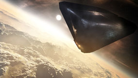 Alien Space Ship Concept Art Royalty Free Stock Photography