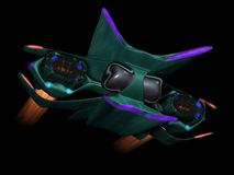 Alien space ship front view Royalty Free Stock Photos