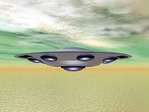 Alien Spacecraft Stock Photo