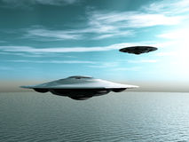 Alien Spacecraft Royalty Free Stock Photos