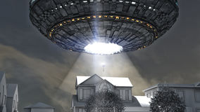 Alien spacecraft abduction Royalty Free Stock Image