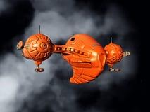 Alien Spacecraft in Space Stock Photos