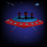 Alien spaceship Royalty Free Stock Image