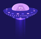 Alien in spaceship Royalty Free Stock Images
