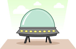 Alien Spaceship Royalty Free Stock Photos