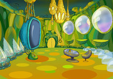 Alien Spaceship Cartoon Interior Stock Photos