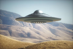Alien Spaceship On Earth Royalty Free Stock Photography