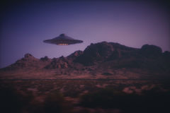 Alien Spaceship On Earth Stock Photo