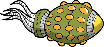 Alien Spaceship Vector Illustration Royalty Free Stock Photo