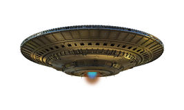 Alien spaceship Stock Photo