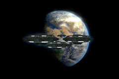 Alien spaceships Royalty Free Stock Photography