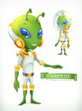 Alien in spacesuit. Character vector icon Royalty Free Stock Photography