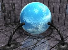 Alien sphere with wires. An abstract image of an alien sphere attached to wires Stock Photos