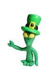 Alien at St. Patrick's day. Aliens celebrates St. Patrick's Day too Stock Photo