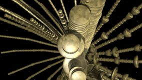 Alien Structure Animation Stock Image