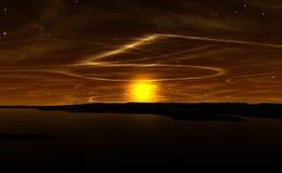 Alien Sunset Royalty Free Stock Photo