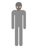 Alien symbol. On white background Stock Image