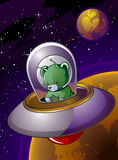 Alien Teddy Bear Stock Photo
