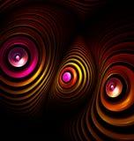 Alien telescopes. Computer generated fractal artwork. Stock Images
