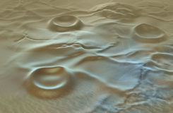 Alien terrain Stock Image