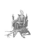 Alien on a throne Royalty Free Stock Image