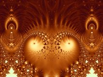Alien Throne Bizarre Fractal Royalty Free Stock Photo