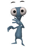 Alien Toon Figure Stock Photography