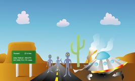 Alien Tourists Royalty Free Stock Images