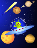 Alien travelling Royalty Free Stock Photography