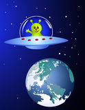 Alien travelling Stock Image