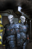 Alien troopers Stock Photos
