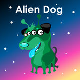 Alien two-headed dog in the sky. Alien two-headed dog on the sky background Royalty Free Stock Photos