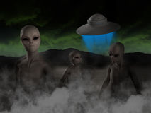 Alien UFO, Aliens, Spaceship Illustration Royalty Free Stock Photos