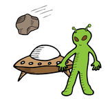 Alien UFO Royalty Free Stock Images