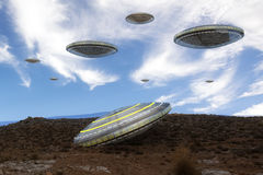 Alien UFO ship Royalty Free Stock Photography