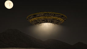 Alien UFO ship Stock Photo