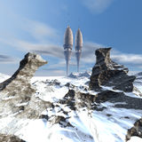 Alien UFO space ship. 3d alien UFO space ship Royalty Free Stock Photo