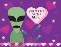 Alien Valentine's Day Stock Images