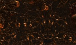Alien Virus Abstract Fractal Design. Alien virus abstract fractal science fiction design for textures, backgrounds and wallpapers Vector Illustration