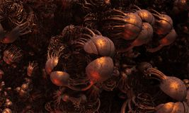 Alien Virus in Closeup Abstract Fractal Design. Alien virus in closeup abstract fractal science fiction design for textures, backgrounds and wallpapers Stock Images