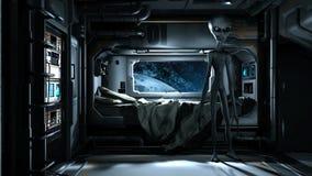 Alien visit Royalty Free Stock Photos