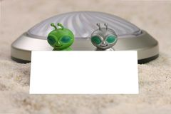 Alien Visitors with a Message Stock Photo