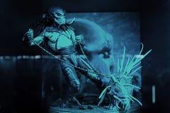 Alien vs predator royalty free stock photos