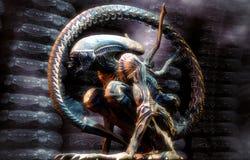 Alien warrior Stock Images
