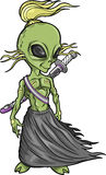 Alien Warrior Vector Royalty Free Stock Image