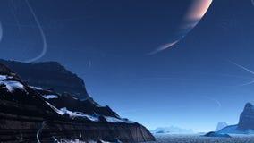 Alien winter Stock Images