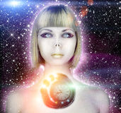 Alien Woman Royalty Free Stock Photos